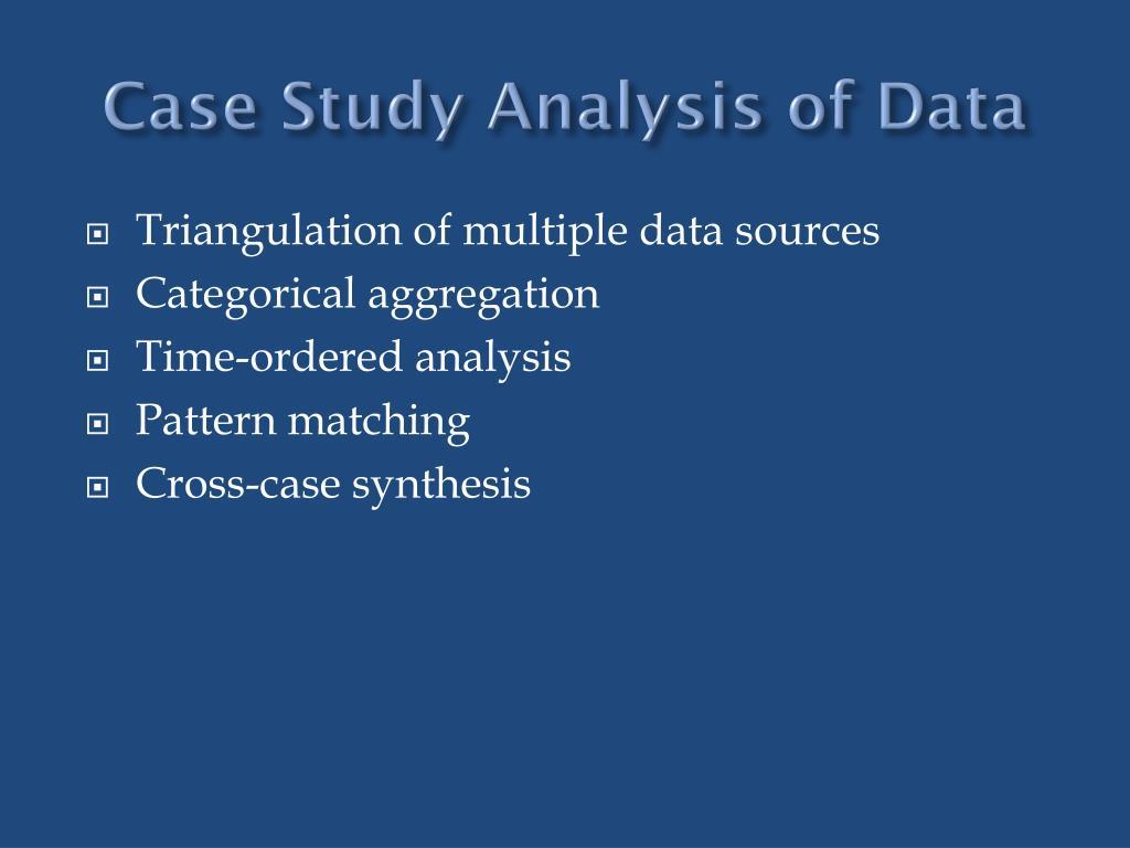 Case Study Analysis of Data