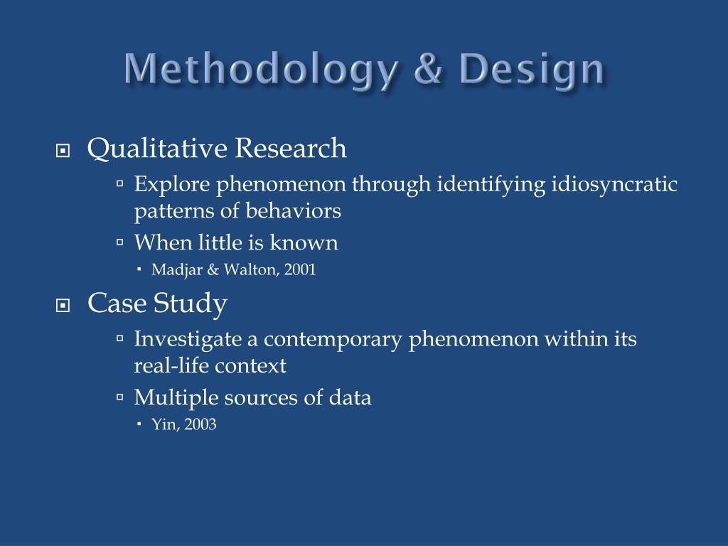 Methodology & Design