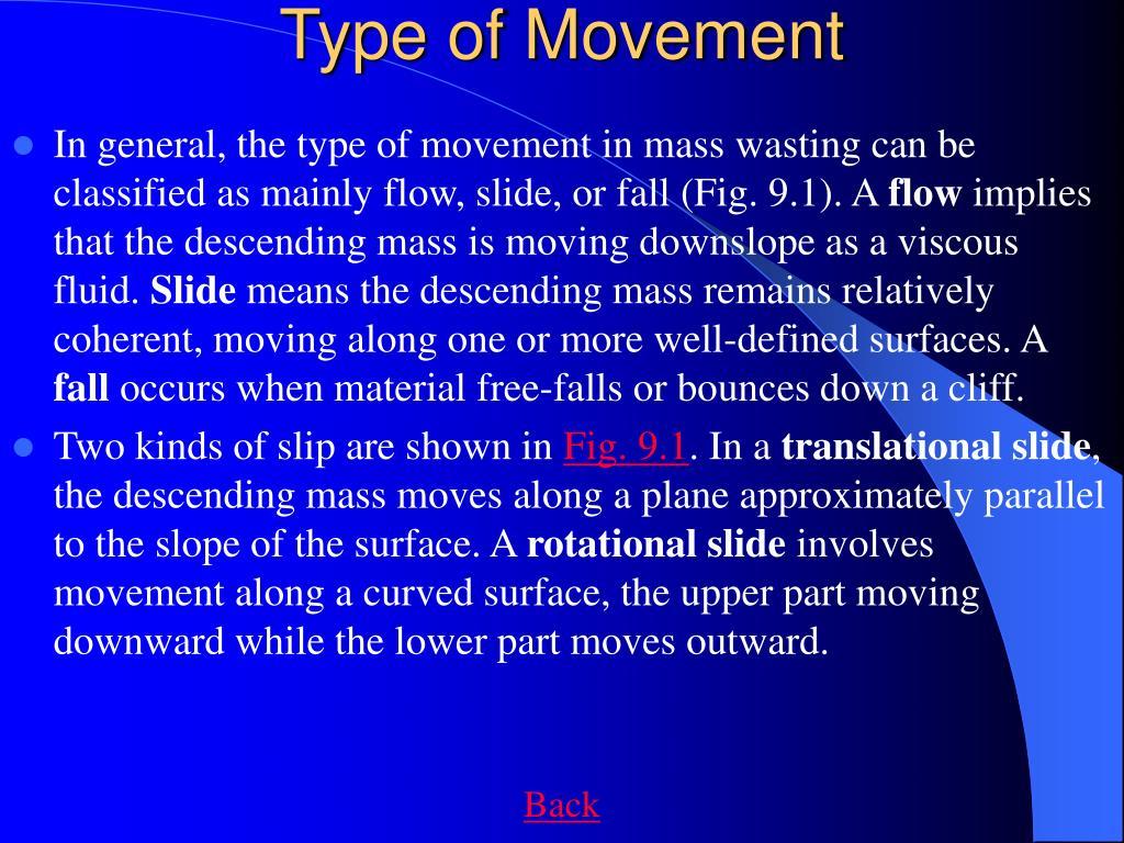 Type of Movement