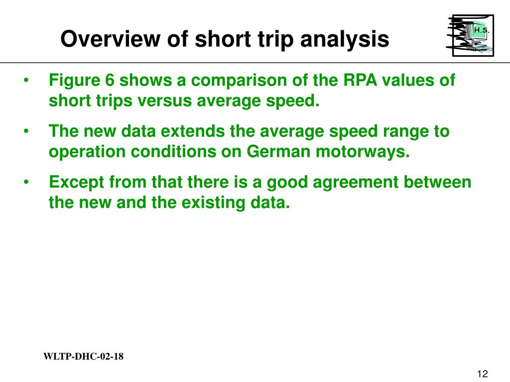 Overview of short trip analysis