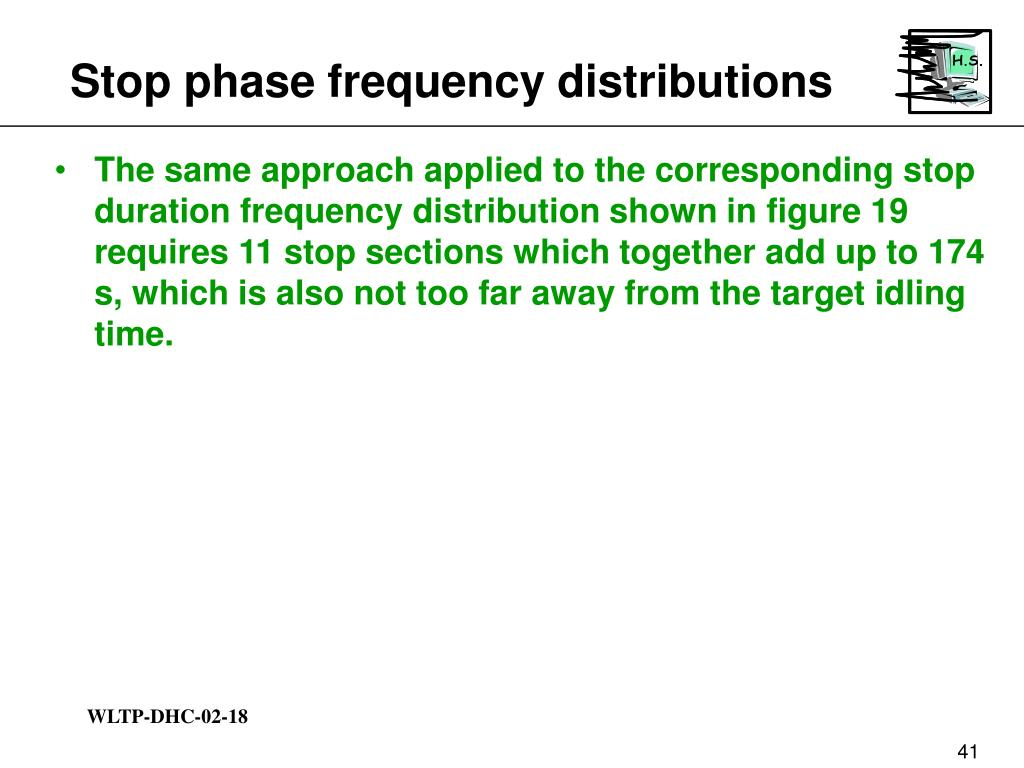 Stop phase frequency distributions