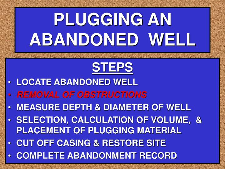 PLUGGING AN