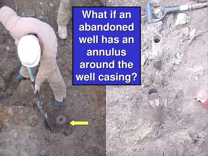 What if an abandoned well has an annulus around the well casing?