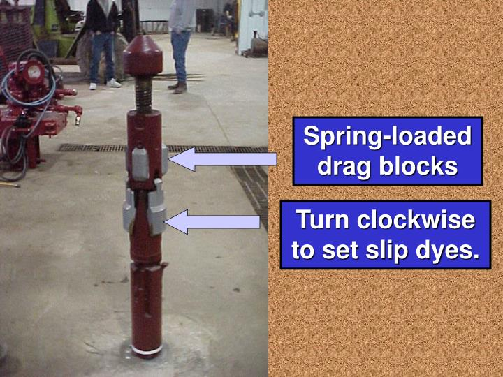 Spring-loaded    drag blocks