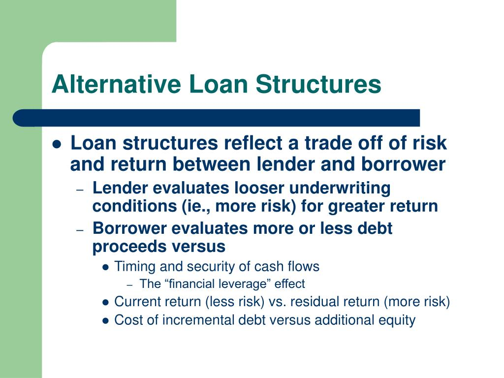 Alternative Loan Structures