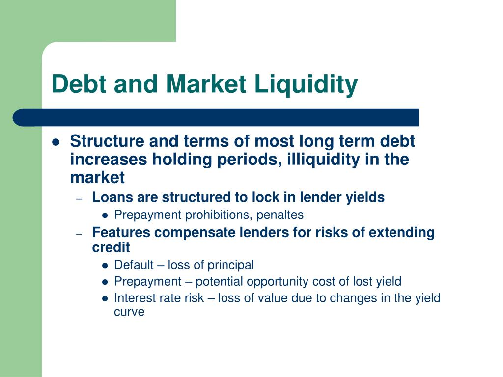 Debt and Market Liquidity