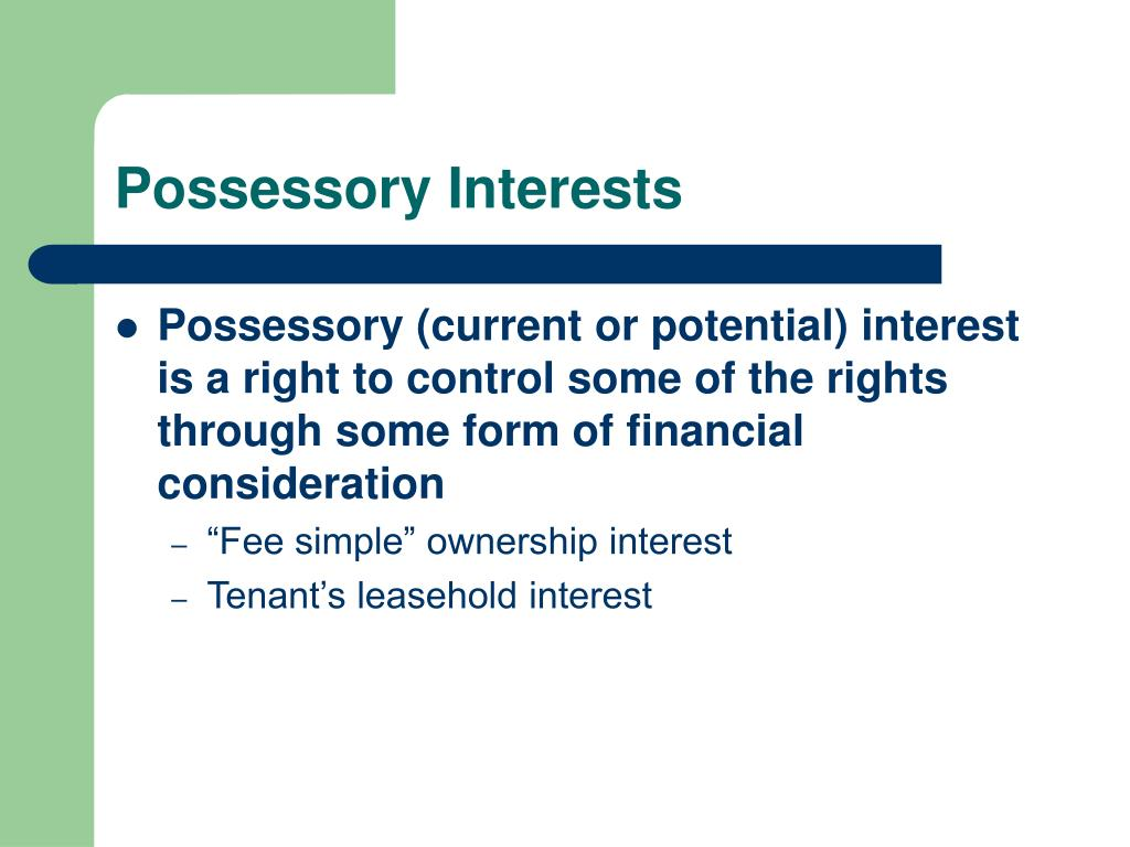 Possessory Interests
