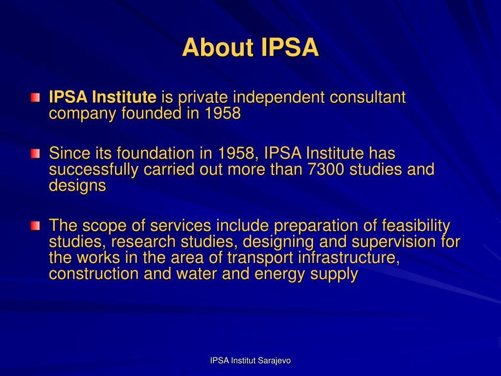 About IPSA
