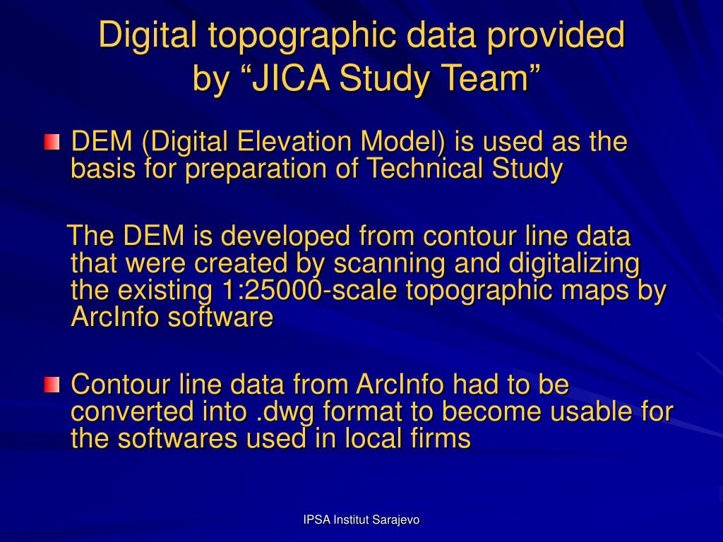 Digital topographic data provided