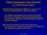digital topographic data provided by jica study team