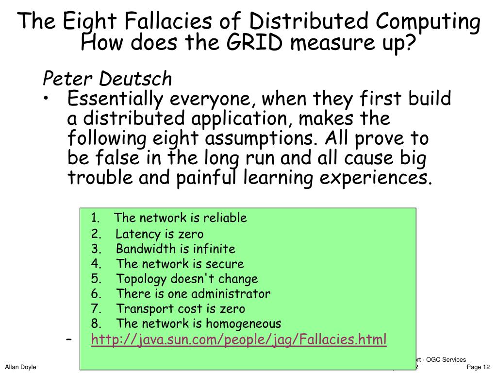 The Eight Fallacies of Distributed Computing