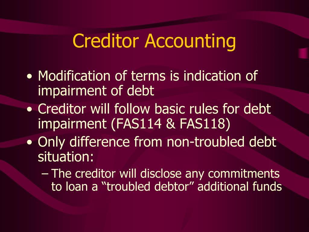 Creditor Accounting