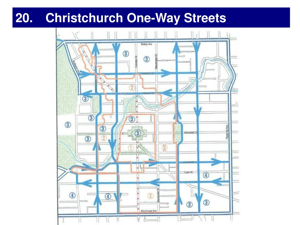 20. Christchurch One-Way Streets