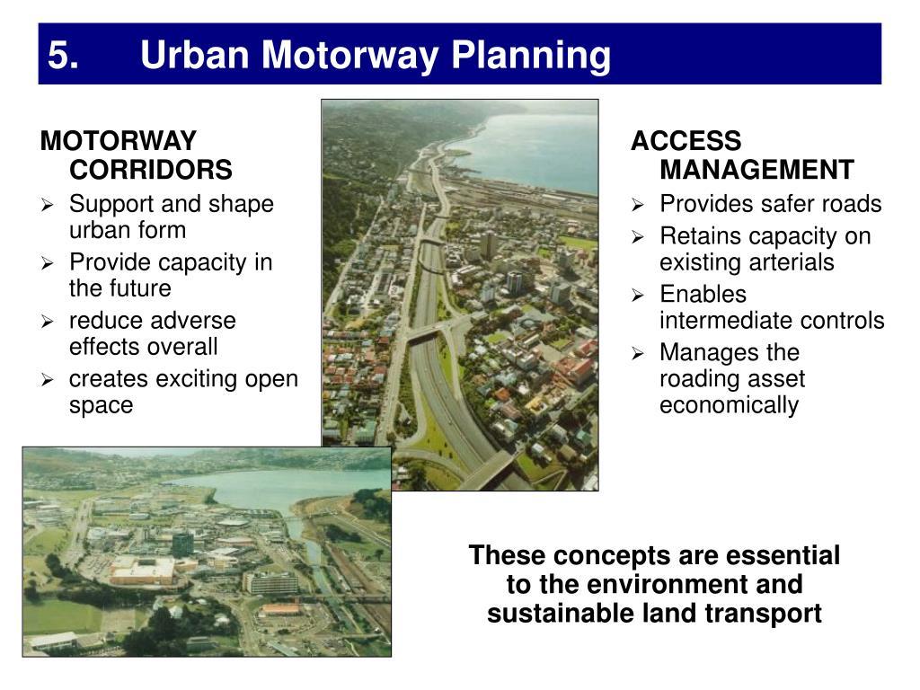 5. Urban Motorway Planning
