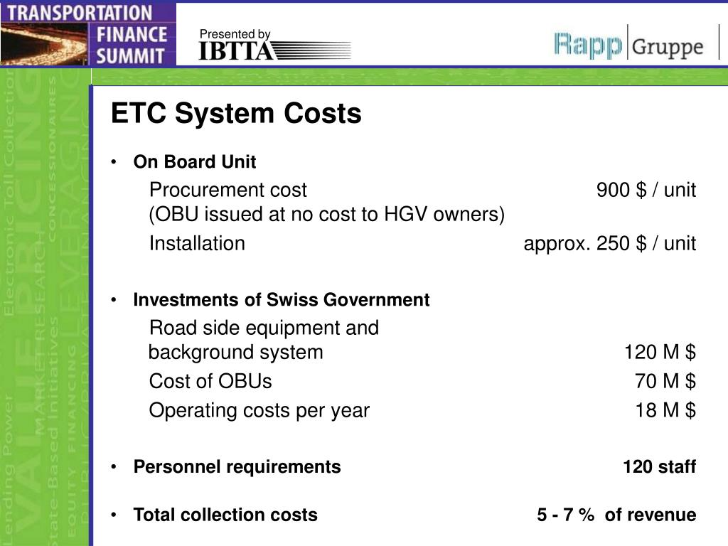 ETC System Costs