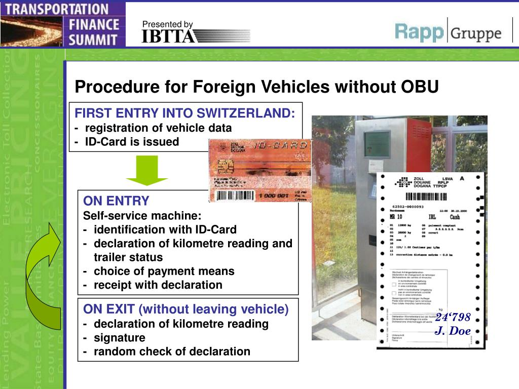 Procedure for Foreign Vehicles without OBU