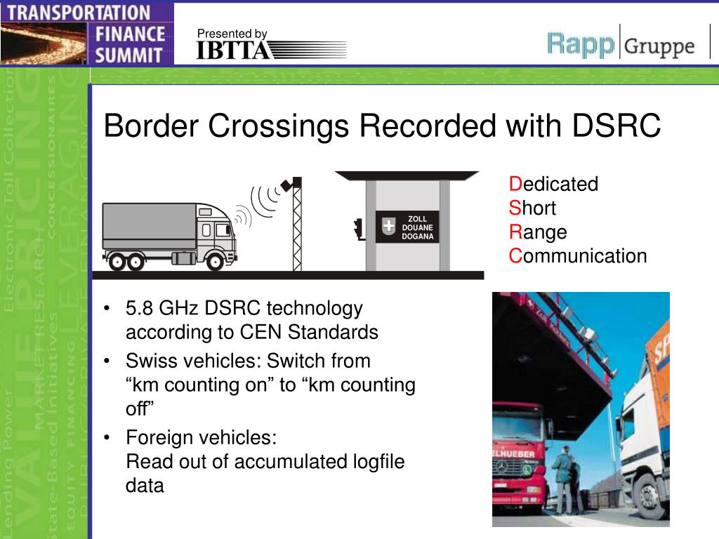 Border Crossings Recorded with DSRC