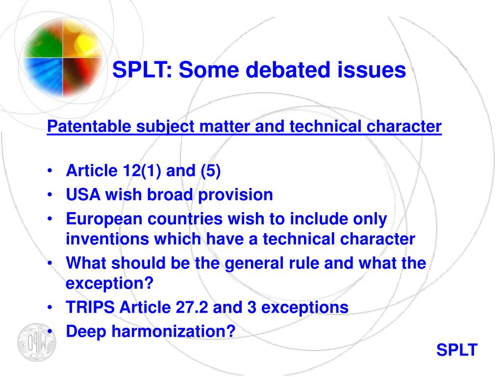 SPLT: Some debated issues