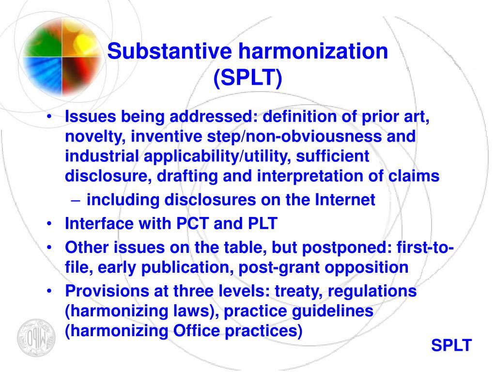 Substantive harmonization