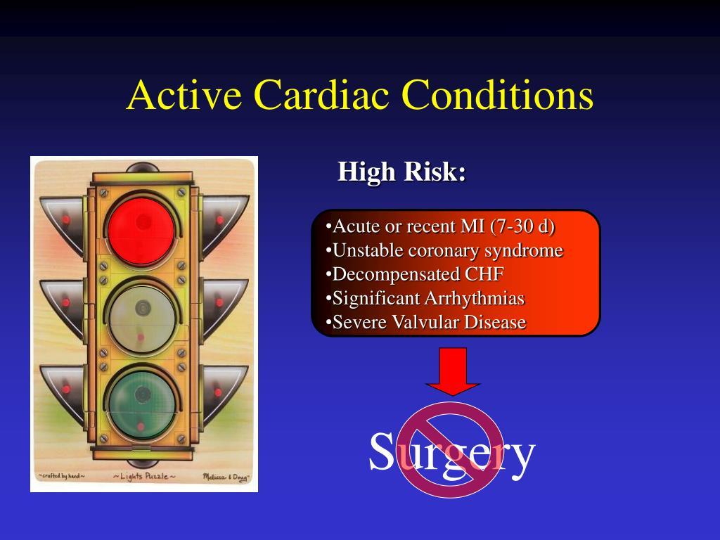 Active Cardiac Conditions