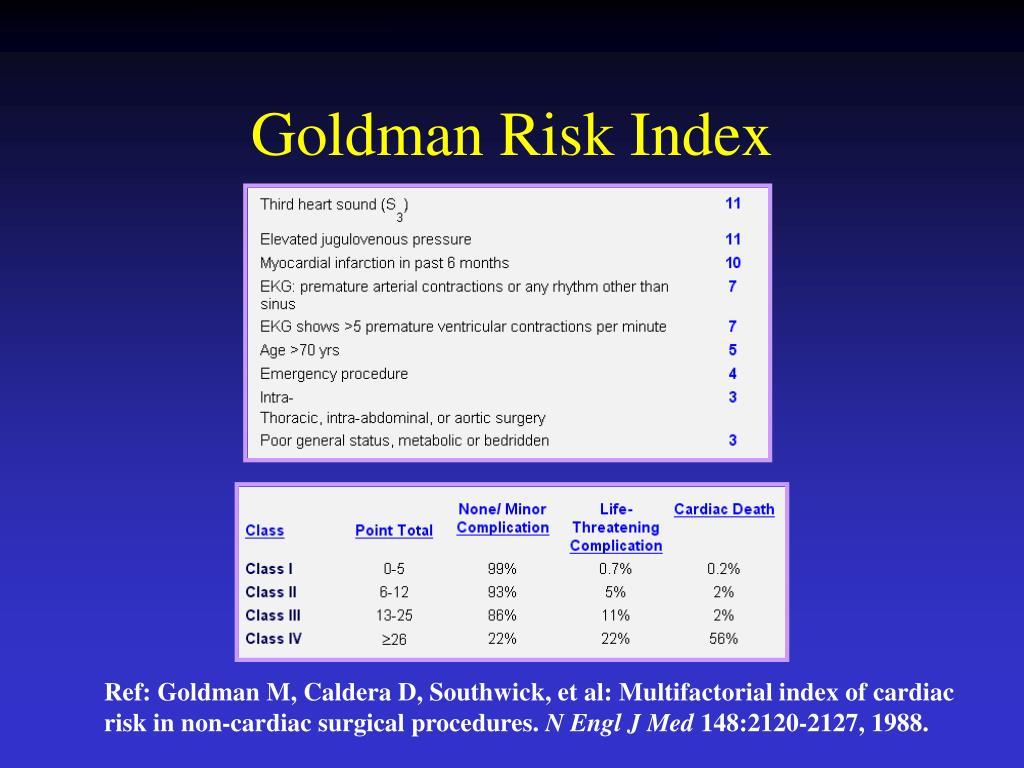 Goldman Risk Index