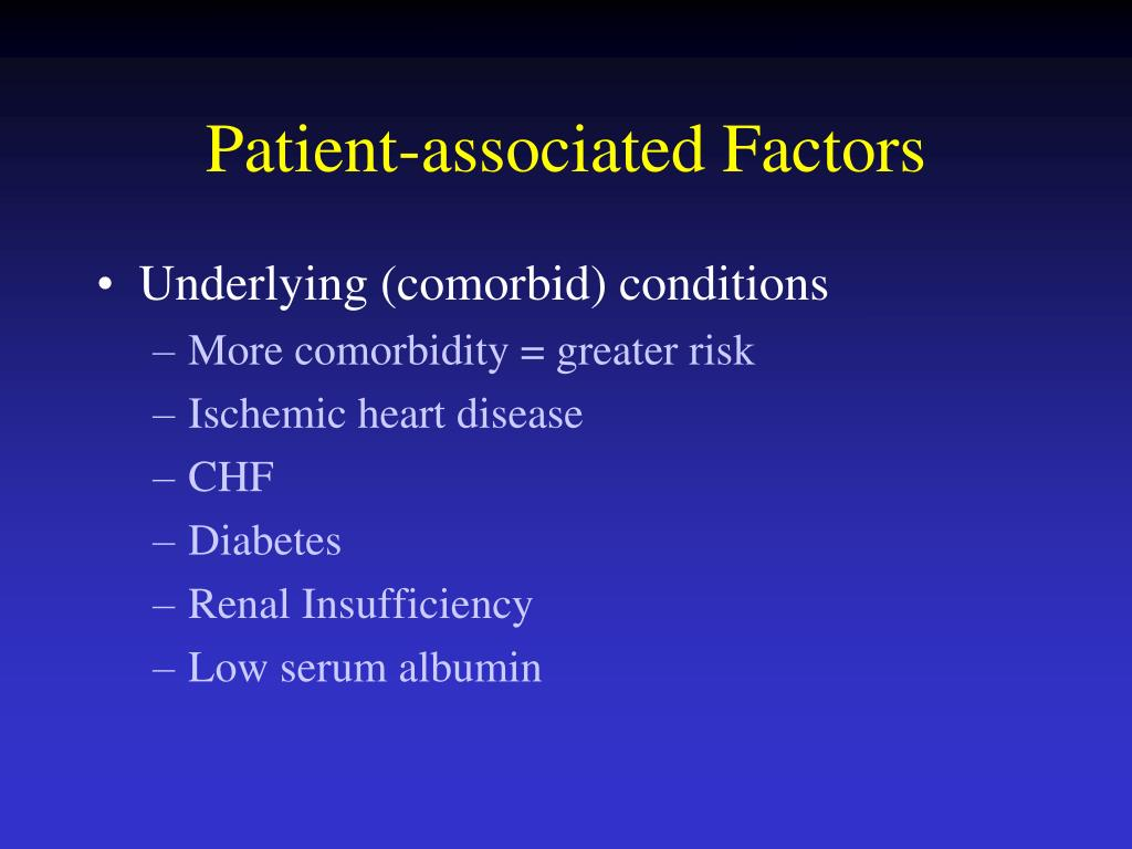 Patient-associated Factors