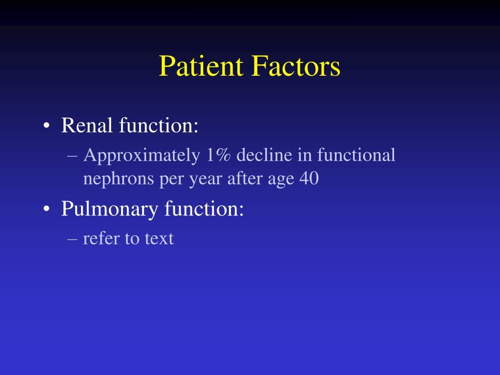 Patient Factors