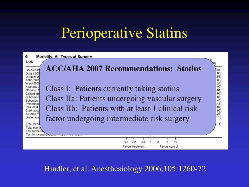 Perioperative Statins