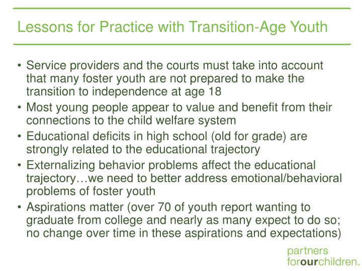 Lessons for Practice with Transition-Age Youth
