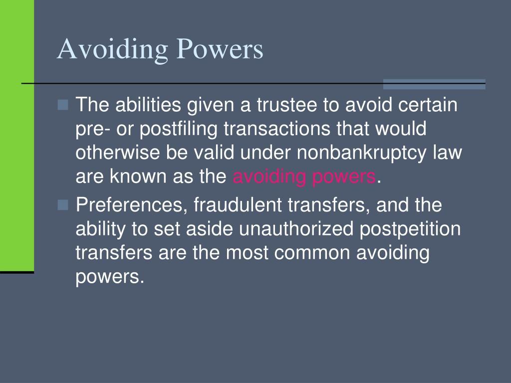 Avoiding Powers