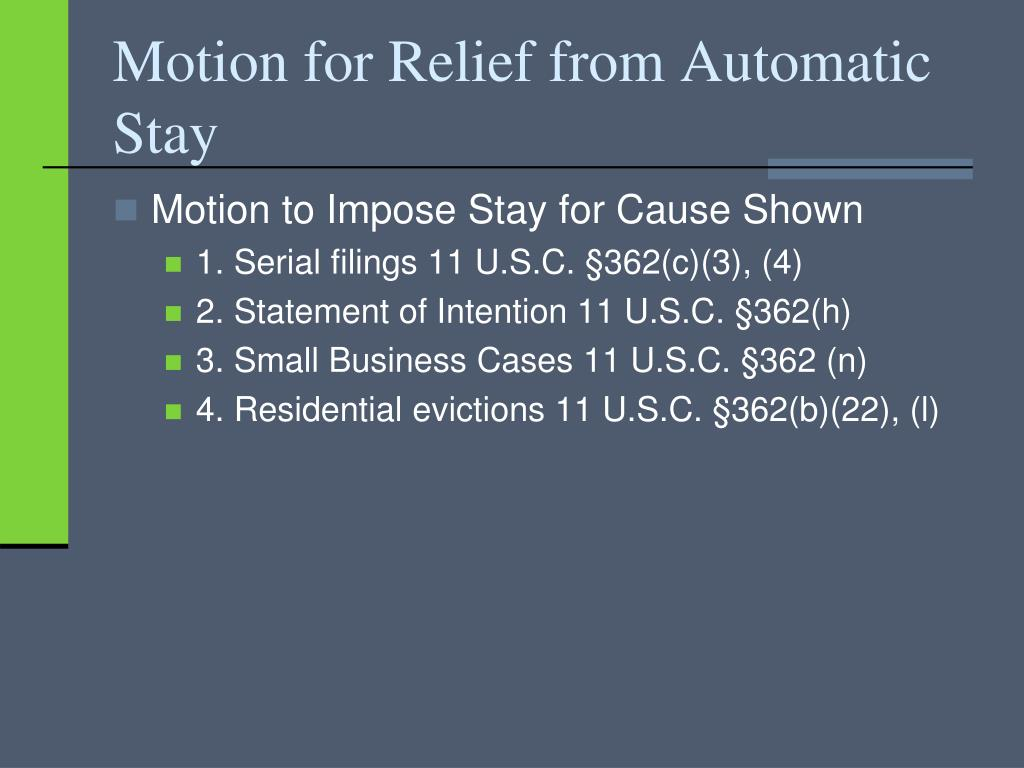 Motion for Relief from Automatic Stay
