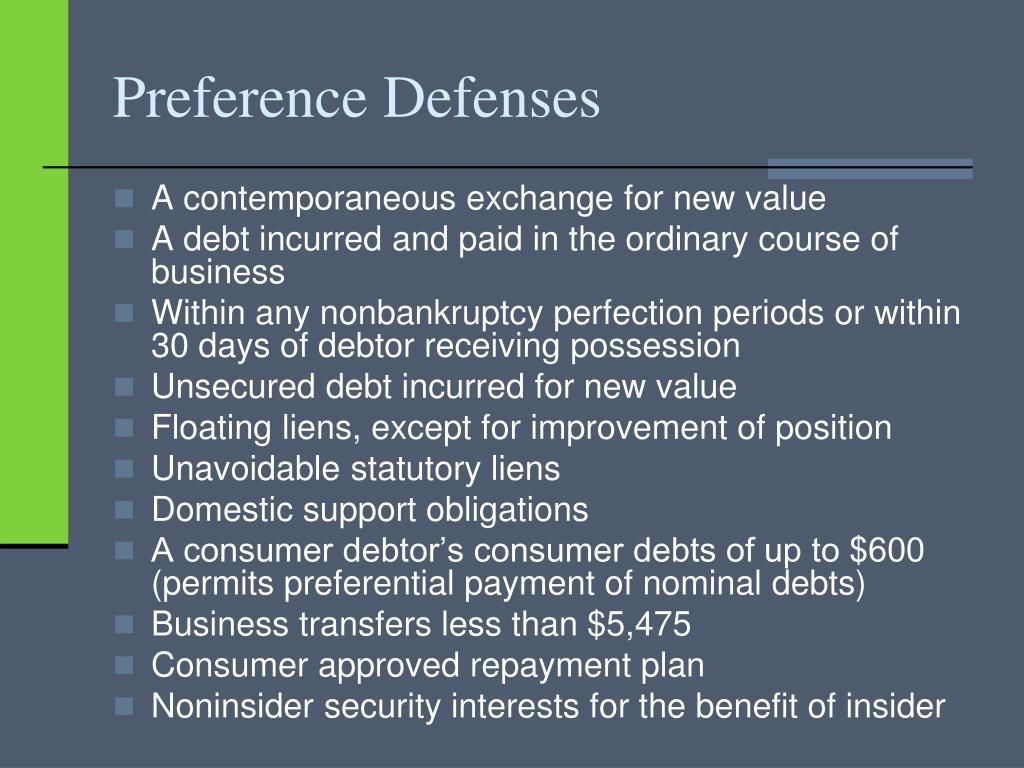 Preference Defenses