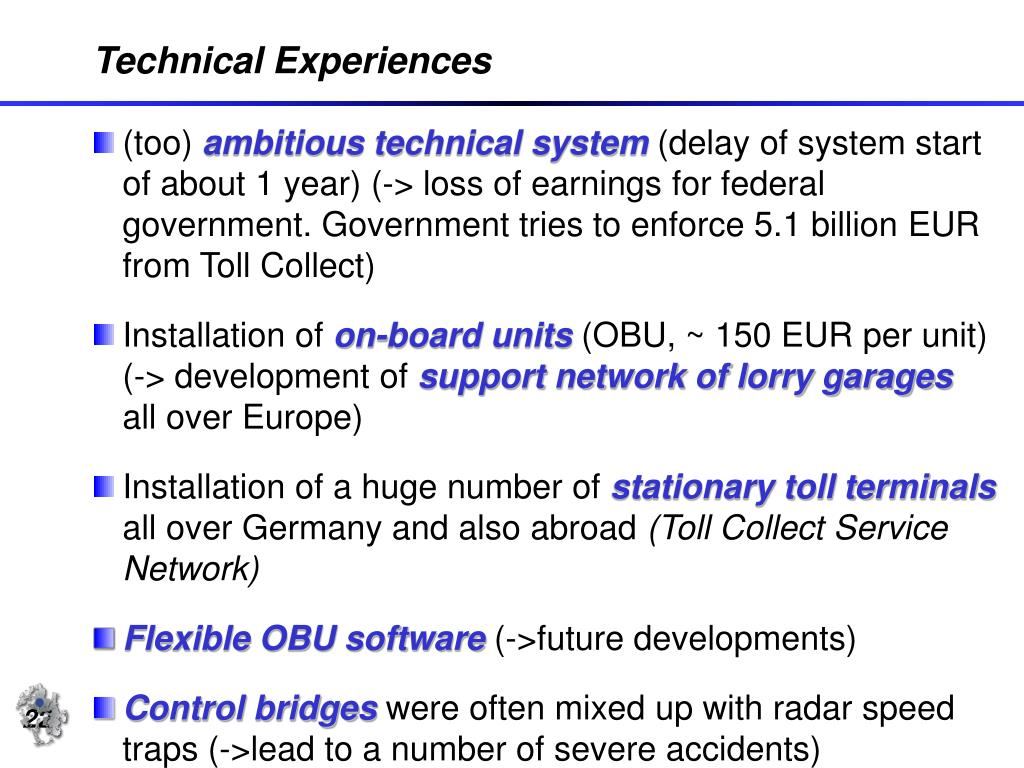 Technical Experiences