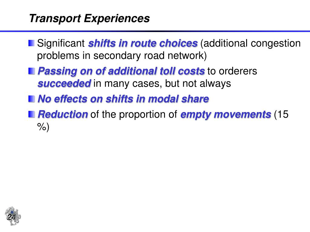 Transport Experiences