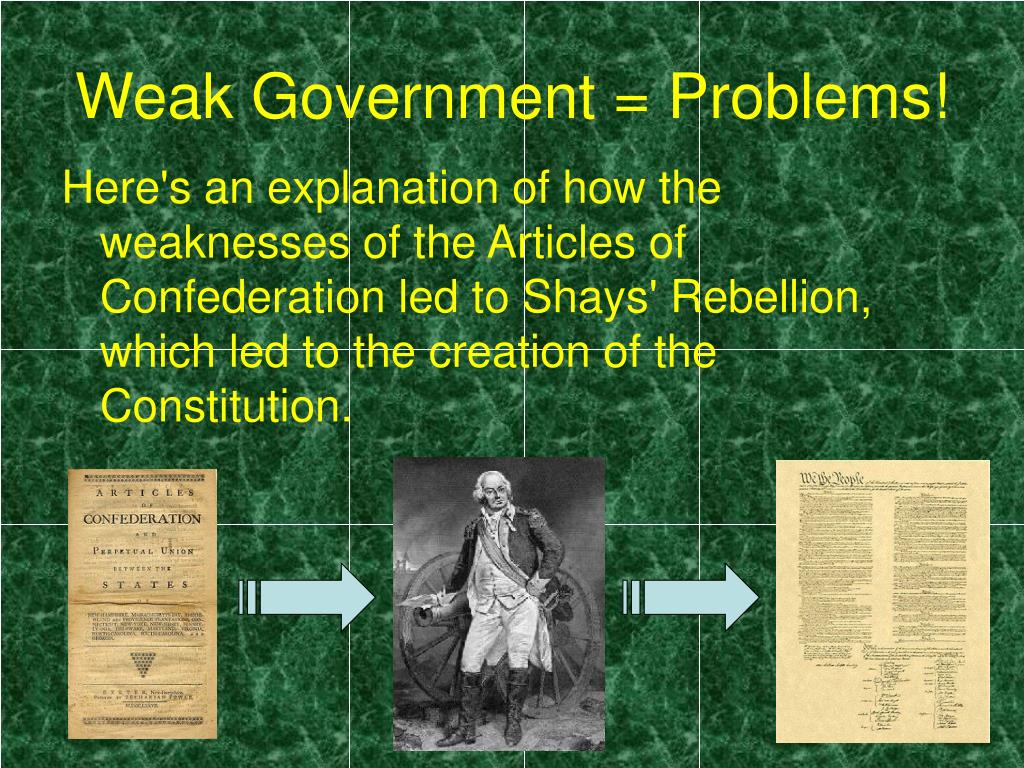 downfall of the articles of confederation The articles of confederation attempted to create national coordination while avoiding an overbearing national government drafted in 1777, it was not approved by the states until 1781.