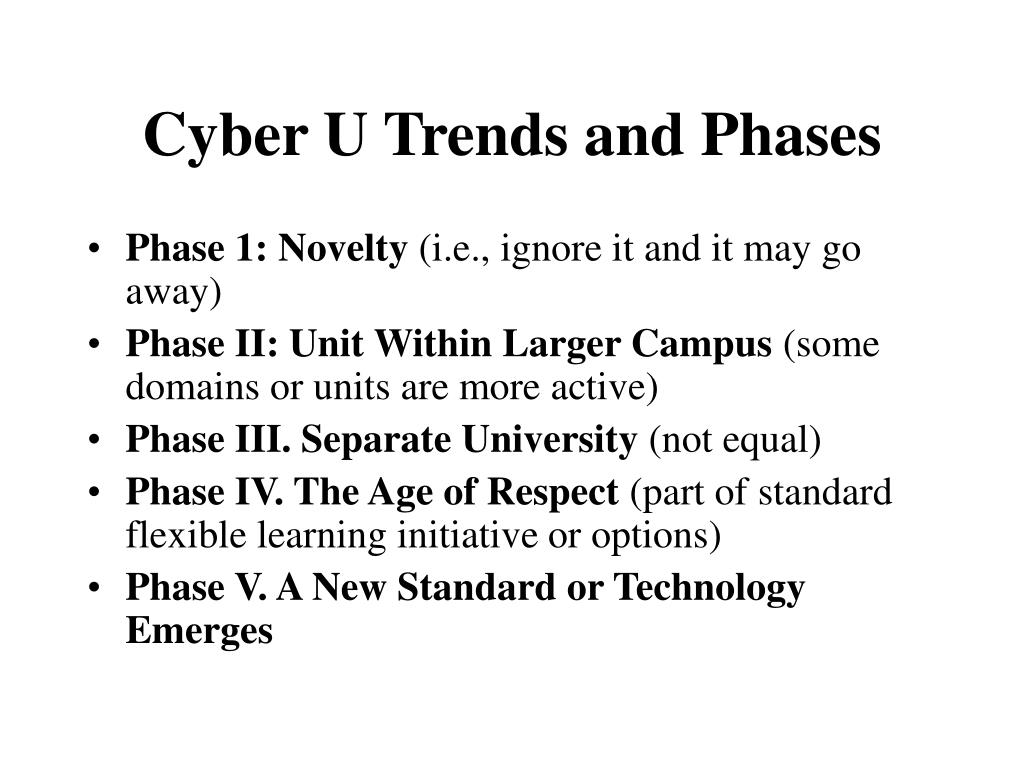 Cyber U Trends and Phases