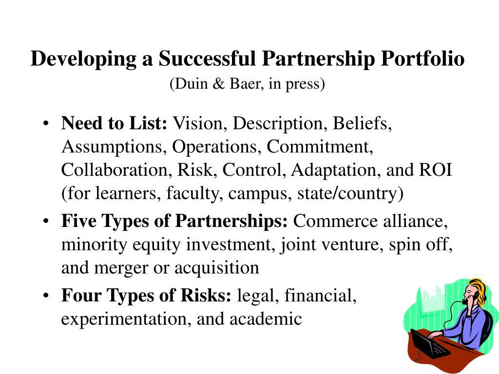 Developing a Successful Partnership Portfolio