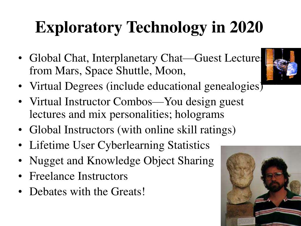 Exploratory Technology in 2020