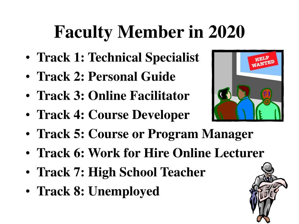 Faculty Member in 2020