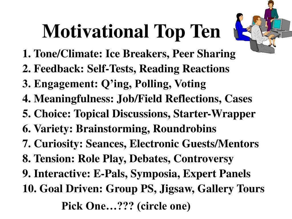 Motivational Top Ten