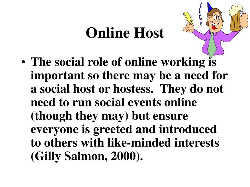 Online Host