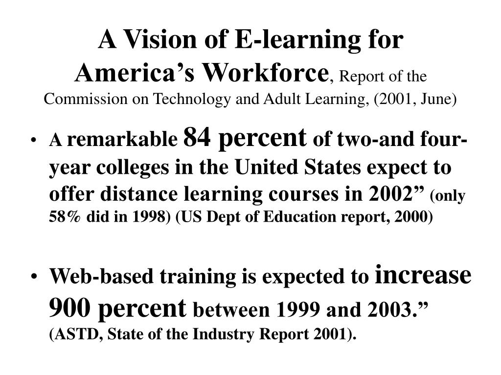 A Vision of E-learning for America's Workforce