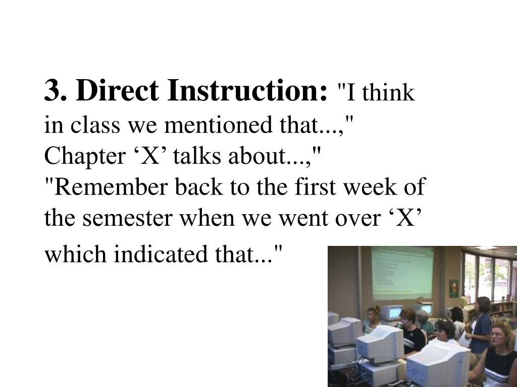 3. Direct Instruction: