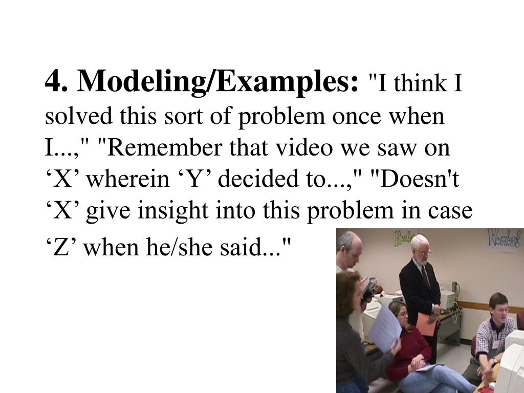 4. Modeling/Examples: