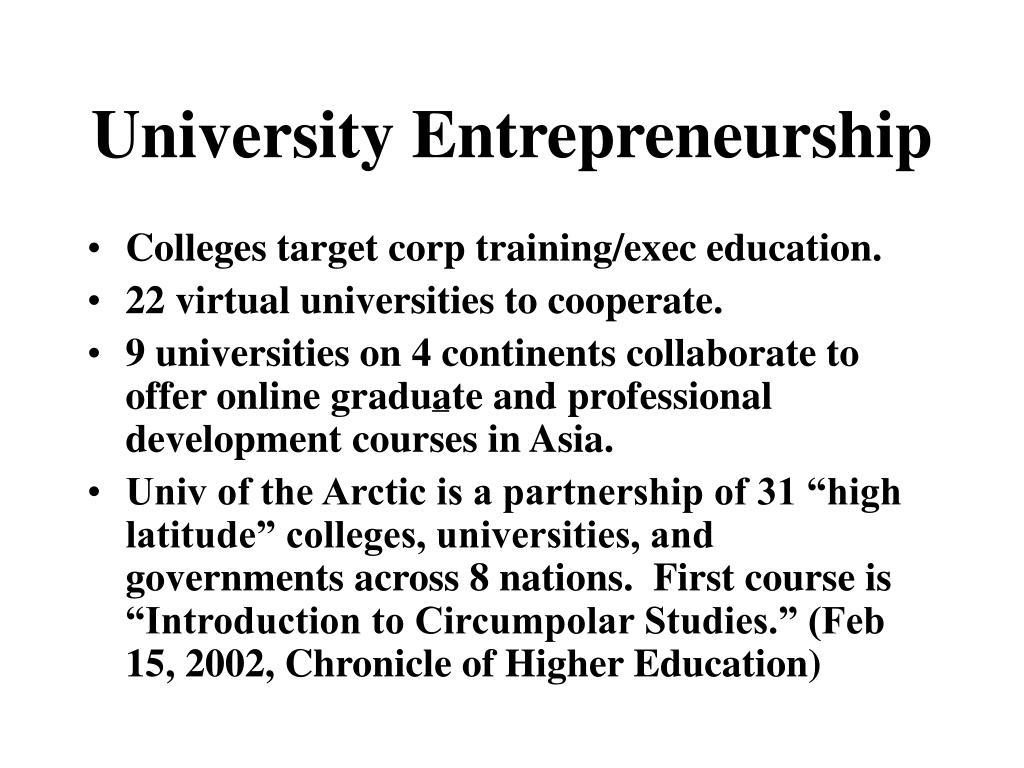 University Entrepreneurship