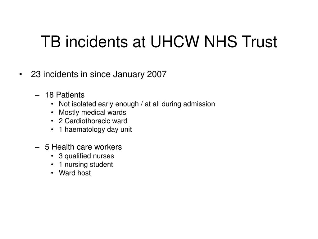 23 incidents in since January 2007