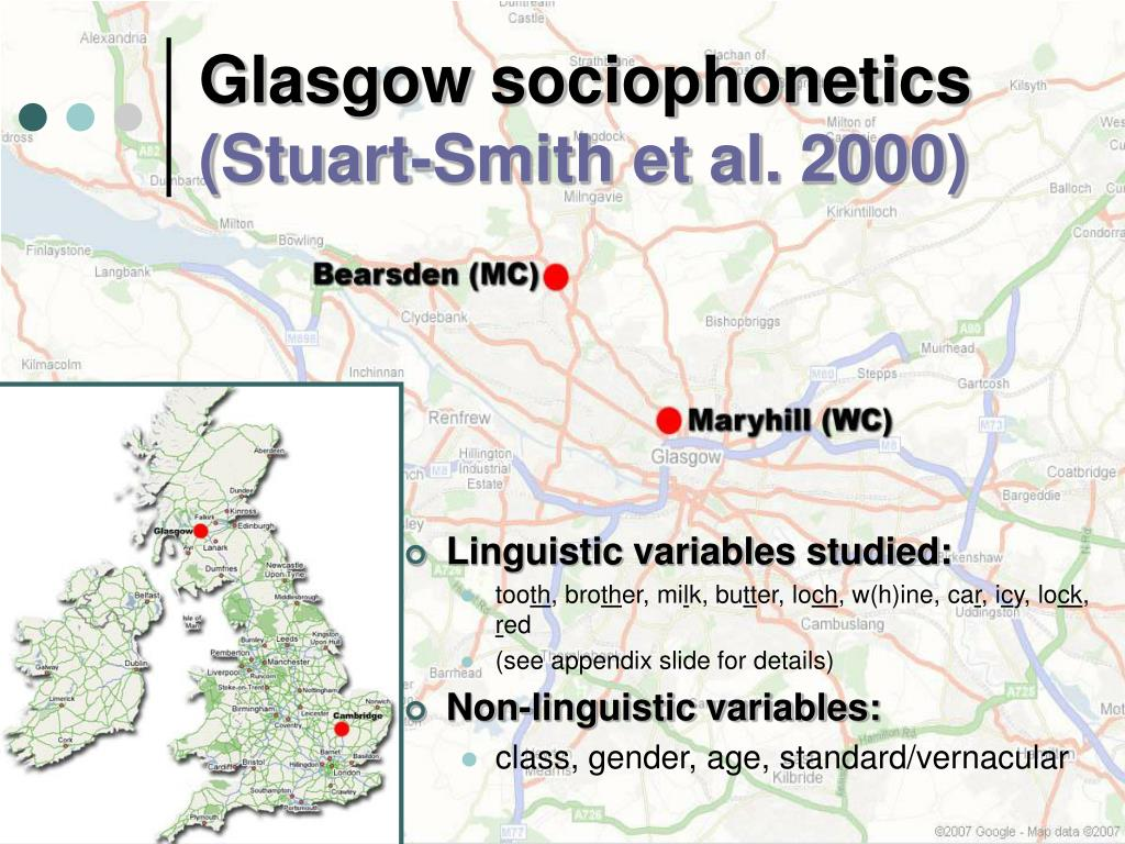 Glasgow sociophonetics