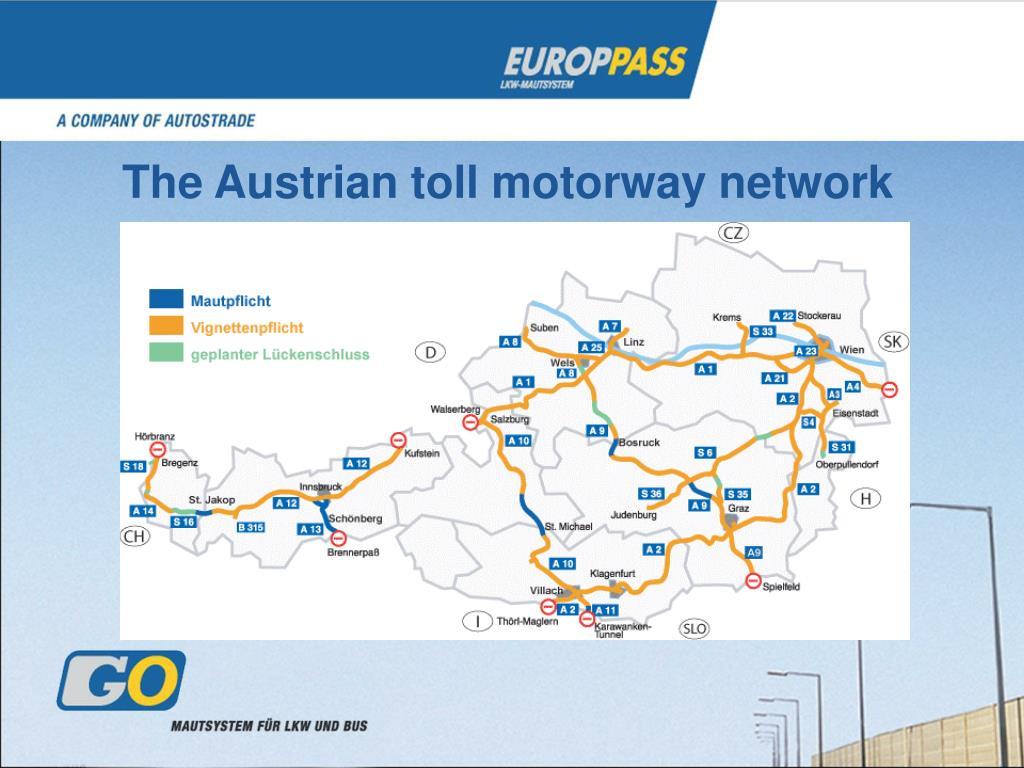 The Austrian toll motorway network