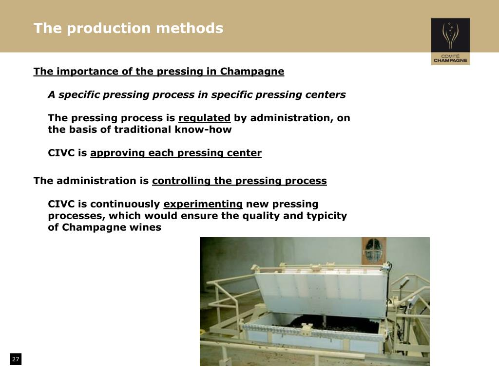 The production methods