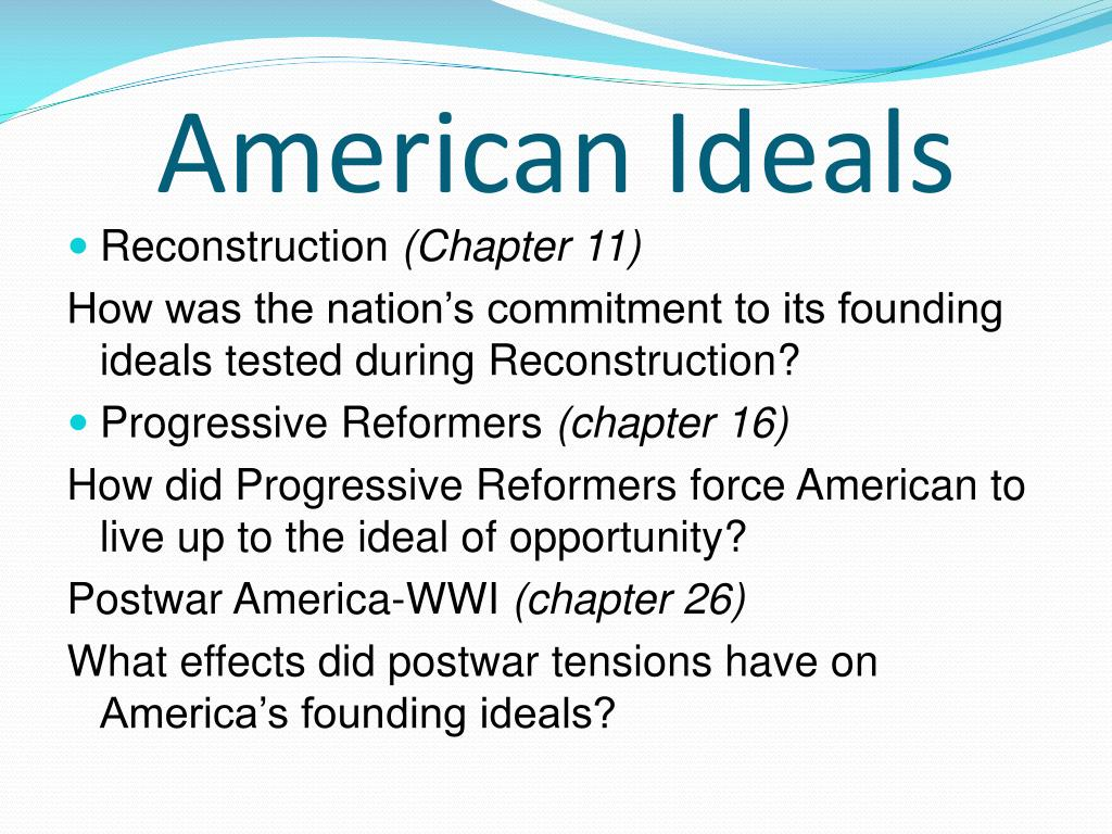 American ideals essay